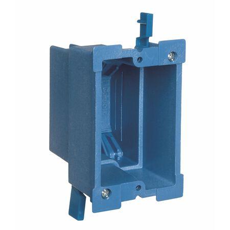 Carlon 3-5/8 in. H Rectangle 1 Gang Outlet Box Blue PVC