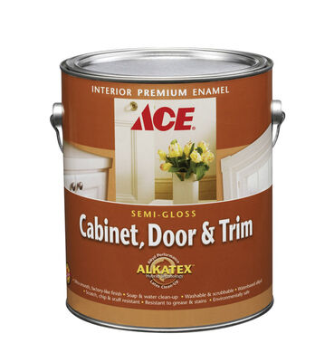 Ace Interior Cabinet Door and Trim Paint Tintable Base Semi-Gloss 1 gal. Ultra White