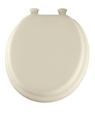 Mayfair Vinyl Cushioned Toilet Seat Round Bone