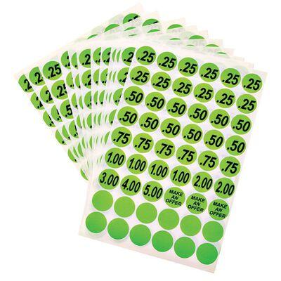 Hy-Ko English Green Price Labels Price .25 .50 .75 1.00 2.00 3.00 4.00 5.00