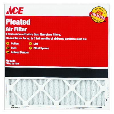 Ace 30 in. L x 14 in. W x 1 in. D Pleated Air Filter 8 MERV