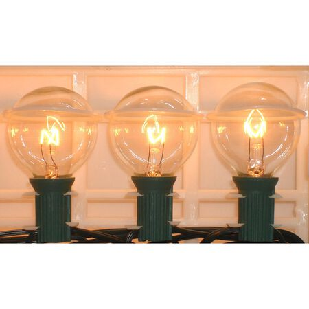 Living Accents 19 ft. L Clear Globe Light Set