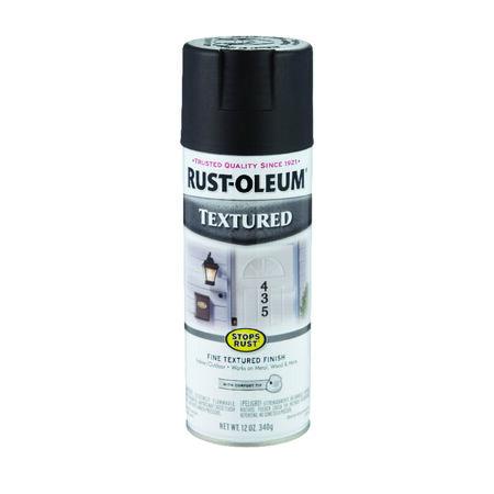 Rust-Oleum Stops Rust Textured Black Spray Paint 12 oz.