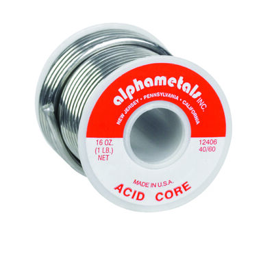 Alpha Fry 16 oz. For Plumbing Acid Core Solder Tin / Lead 40% Tin 60% Lead