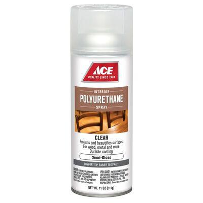 Ace Indoor Clear Semi-Gloss Polyurethane Spray 11 oz.