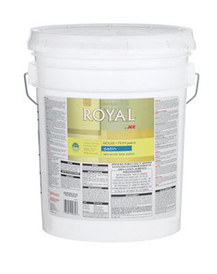 Ace Royal Acrylic Latex House & Trim Paint & Primer Satin 5 gal. Ultra White
