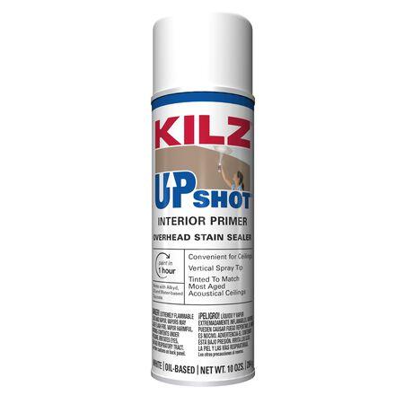 KILZ Up Shot White Flat Oil-Based Primer and Sealer 10 oz.