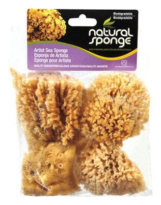 ACME Faux/Artist Natural Sea Sponges 4 in. L