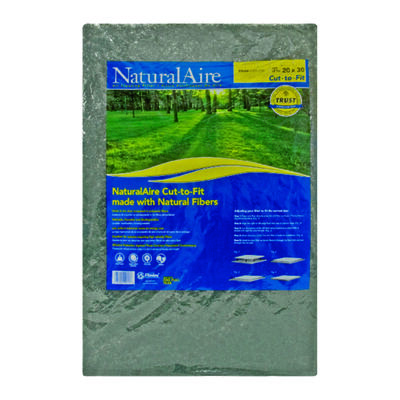Flanders-Precisionaire NaturalAire 30 in. L x 20 in. W x 1 in. D Natural Hair Matted Fiber Latex