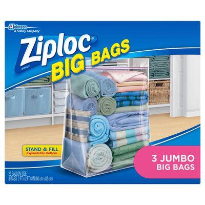 Ziploc Big Bags Storage Bag 20 gal. Clear 2.7 ft. D