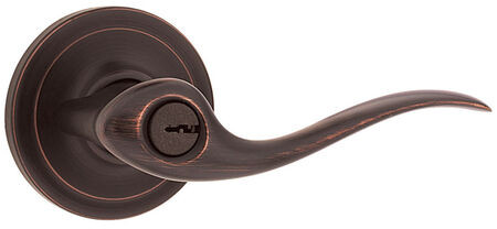 Weiser Toluca Entry Lockset Venetian Bronze Steel 2 Grade Right Handed