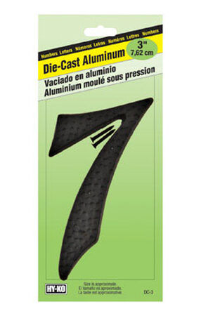 Hy-Ko Nail On Black Aluminum Number 7 3-1/2 in.