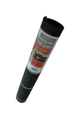 Flexgard Black Rubber Nonslip Utility Mat 60 in. L x 36 in. W