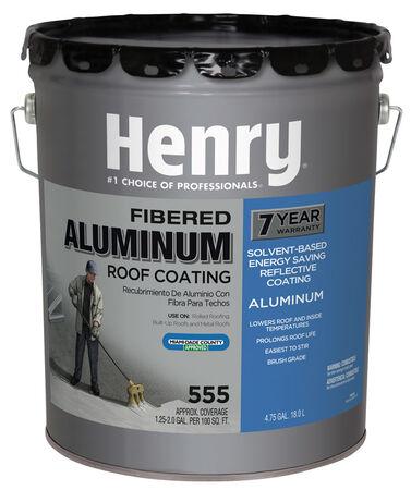 Henry Asphalt Aluminum Roof Coating 4.75 gal. Aluminum