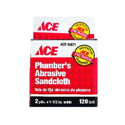 Ace Aluminum Oxide Sanding Cloth 2 yd. L 120 Grit 12 pk