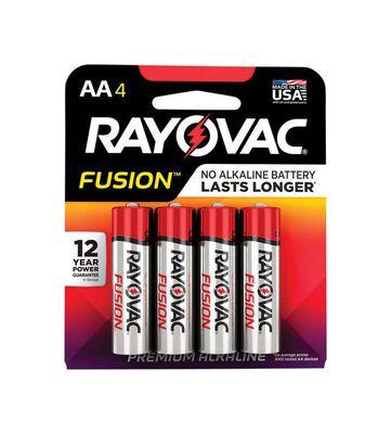 RAYOVAC FUSION AA Alkaline Batteries 1.5 volts 4 pk