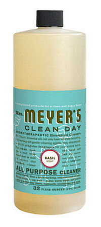 Mrs. Meyer's Clean Day Basil Scent Multi-Surface Concentrate Cleaner 32 oz. Liquid For Counter T