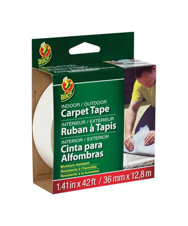 Duck 1.41 in. W x 42 ft. L Carpet Tape White