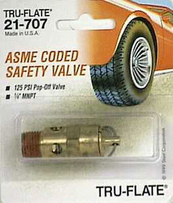 Tru-Flate Brass Safety Valve 1/4 in. MNPT Male