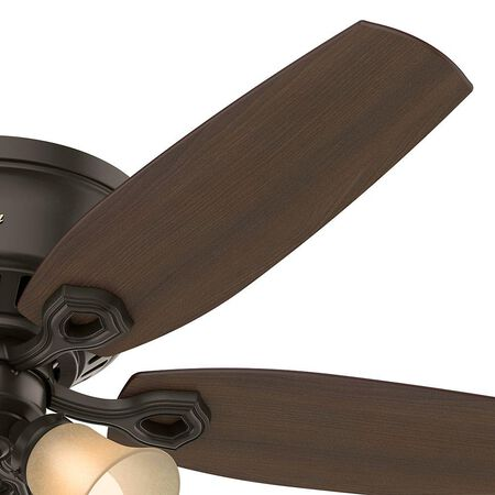 Hunter 53327 52 in. Indoor Bronze Lighted Ceiling Fan