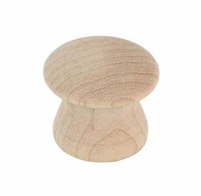 Amerock Allison Round Furniture Knob 1 in. Dia. 7/8 in. Unfinished 2 pk