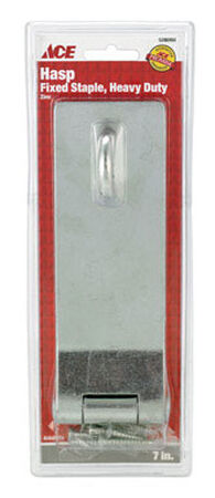 Ace Zinc Fixed Staple Safety Hasp 7 in. L
