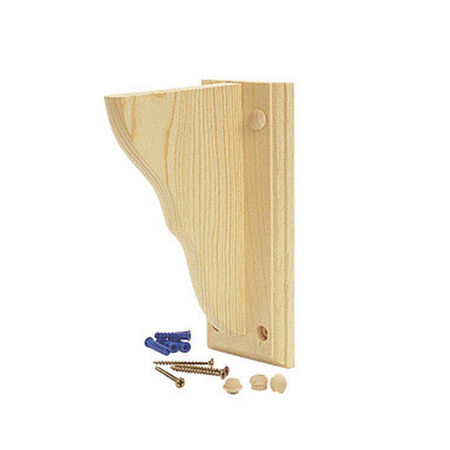 Waddell Pine Satin Shelf Bracket 6 in. L x 9 in. H