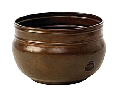 Liberty Gardens Hose Pot 150 ft. Free Standing Steel Brown