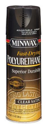 Minwax Clear Satin Fast Drying Polyurethane Spray 11.5 oz.