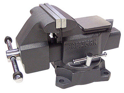 Craftsman 4.5 in. W x 6.4 in. H x 4 in. W Steel Bench Vise