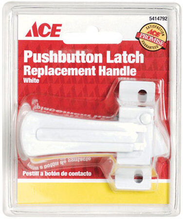 Ace Interior Steel White Push Button Latch Replacement