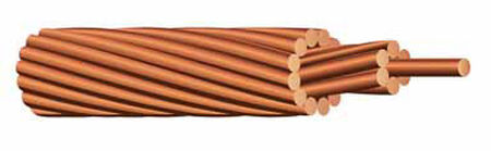 Southwire 500 ft. 8/1 Solid Bare Copper Ground Wire Copper - Sold by the foot