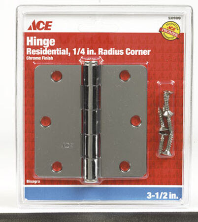 Ace Steel Residential Hinge 3-1/2 in. L Polished 1 pk