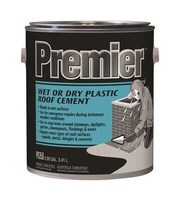 Premier Asphalt Wet/Dry Surface Roof Cement .90 gal. Black