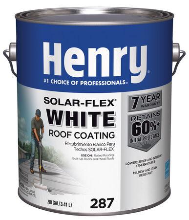 Henry Solar-Flex Water Based Elastomeric Roof Coating 1 gal. White