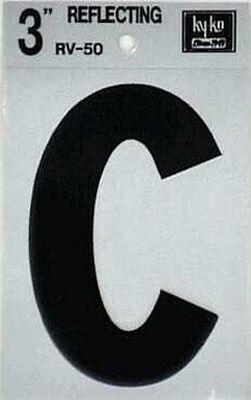 Hy-Ko Self-Adhesive Black 3 in. Reflective Vinyl Letter C