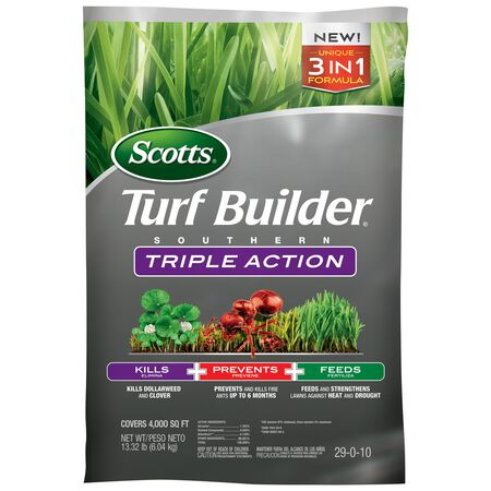 Scotts Turf Builder Triple Action Weed Control Plus Lawn Food Southern 4000 sq. ft. Granular 29