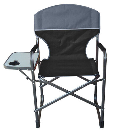 HGT Folding Camping Chair Black/Grey