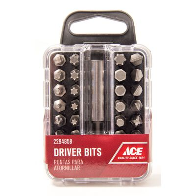 Ace Screwdriver Bit 1/4 in. Dia. x 1 in. L 33 pc.