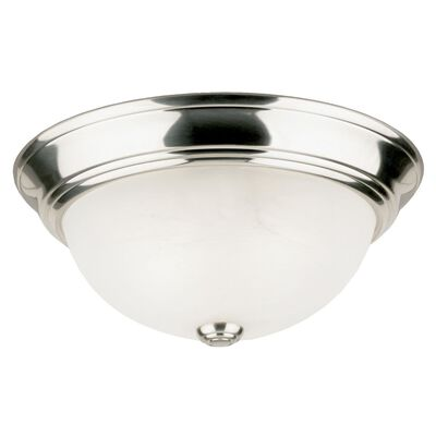 Westinghouse Brushed Nickel Ceiling Fixture 5-1/2 in. H x 13 in. W