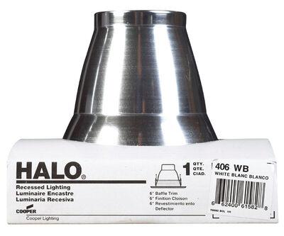 Halo 4 in. W White 4 in. Recessed Light Trim