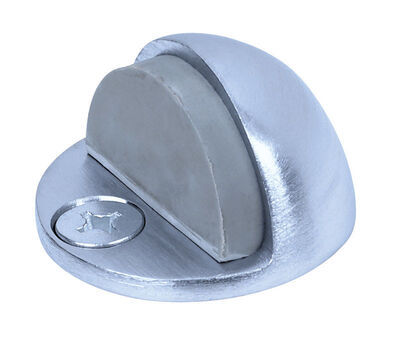 Tell Aluminum Floor Mount Door Stop Satin Chrome Silver