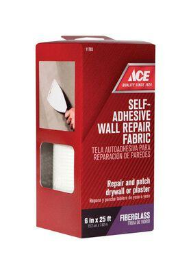 Ace Wall Repair Fabric Fiberglass Mesh Self Adhesive 6 in. W x 25 ft. L