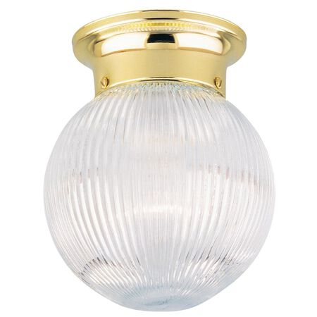 Westinghouse Polished Brass Ceiling Fixture 7-1/4 in. H x 6 in. W