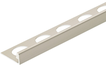 Satin Silver Anodized 3/8 in. X 98.5 in. Aluminum L-Shaped Tile Edging Trim