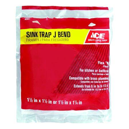 Ace 1-1/2 in. Dia. x 1-1/2 in. Dia. Slip To Slip PVC Sink Trap