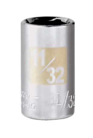 Craftsman 11/32 Alloy Steel 1/4 in. Drive in. drive Standard Socket