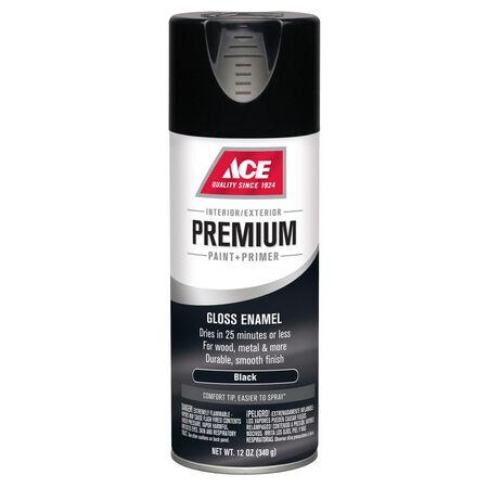 Ace Premium Black Gloss Enamel Spray Paint 12 oz.