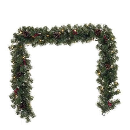 Celebrations 6 ft. L Incandescent Prelit Decorated Christmas Garland