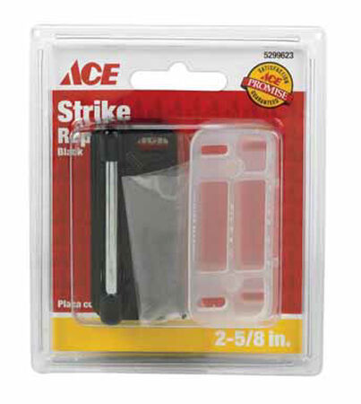 Ace Surface mount Screen/Storm Door Strike Black 1 pk